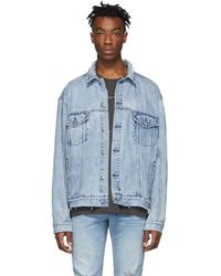 Ksubi - Blue Denim Oversized Oh G Acid Trip Trash Jacket - Lyst