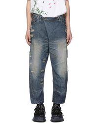 Julius - Indigo Destroyed Jeans - Lyst