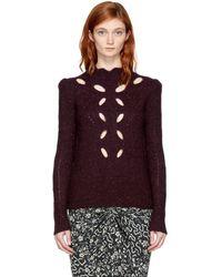 Isabel Marant - Burgundy Elea Donegal Sweater - Lyst