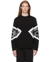 Neil Barrett - Black Camo Modernist Sweatshirt - Lyst