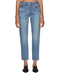 Levi's - Blue Wedgie Icon Fit Faded Jeans - Lyst