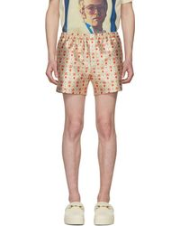 Gucci - Gold And Orange Seashell Shorts - Lyst