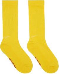 Vetements - Yellow Reebok Edition Dhl Socks - Lyst