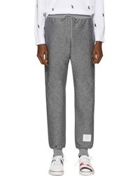 Thom Browne - Grey Quilted Argyle Classic Lounge Pants - Lyst