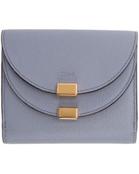 Chloé - Blue Square Georgia Flap Wallet - Lyst