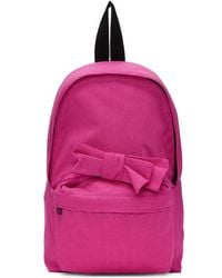 Comme des Garçons - Pink Nylon Bow Backpack - Lyst
