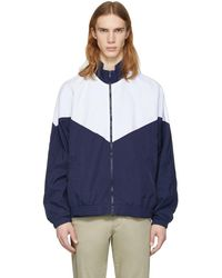 Noon Goons - Navy And White Mall Jogger Jacket - Lyst