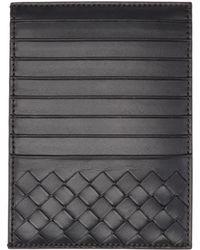 Bottega Veneta - Black Multi Slot Intrecciato Card Holder - Lyst