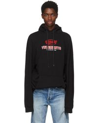 Vetements - Black Graphic Logo Oversized Hoodie - Lyst