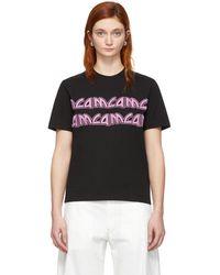 McQ - Black Metal Repeat Logo T-shirt - Lyst