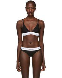 Calvin Klein - Black Modern Cotton Bralette - Lyst