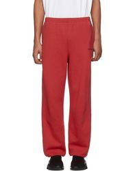 Balenciaga - Red Logo Lounge Trousers - Lyst