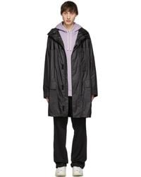 Yves Salomon - Black Army Waterproof Coat - Lyst