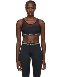 Versace - Black Greek Key Sports Bra - Lyst