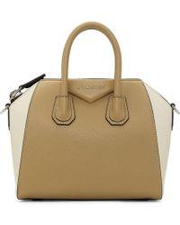 Givenchy - Beige And Off-white Mini Antigona Bag - Lyst