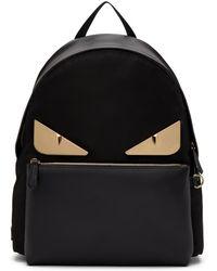 252efaa4fba6 Fendi - Black And Gold Bag Bugs Backpack - Lyst