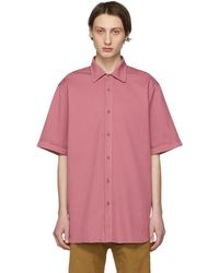 Dries Van Noten - Pink Oversized Compton Shirt - Lyst