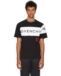 Givenchy - Black And White 4g Patch T-shirt - Lyst