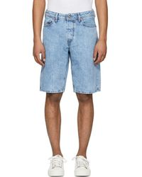 DIESEL - Blue Keeshort Denim Shorts - Lyst