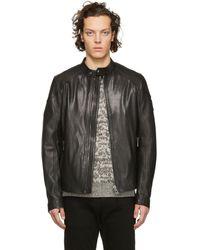 Belstaff - Black Leather B Racer Jacket - Lyst