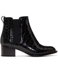 Rag & Bone - Black Croc Walker Ii Boots - Lyst