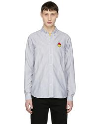 AMI - Black And White Limited Edition Oxford Shirt - Lyst