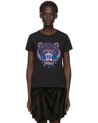 8c7450d55d70 KENZO Black Limited Edition Holiday Tiger T-shirt