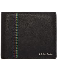 PS by Paul Smith - Black Striped Bifold Wallet - Lyst