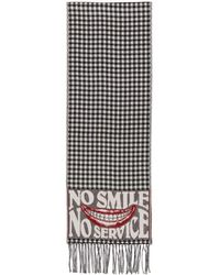 Stella McCartney - Black And White No Smile No Service Scarf - Lyst