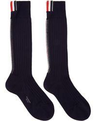 Thom Browne - Ribbed Socks - Lyst
