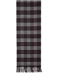 Burberry - Navy Cashmere Vintage Icon Scarf - Lyst