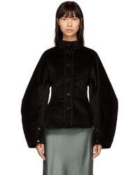 Lemaire - Black Large Sleeve Corduroy Jacket - Lyst