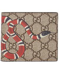 9e38407bbd8cd3 Gucci Black Leather Snake Wallet in Black for Men - Lyst