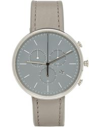 Uniform Wares - Ssense Exclusive Grey Leather M40 Chronograph Watch - Lyst