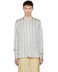 Burberry - Multicolour Silk Stripe Shirt - Lyst