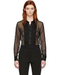 Kiki de Montparnasse - Black Tuxedo Bodysuit - Lyst