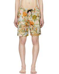 Burberry - Maillot de bain orange Flower Guildes - Lyst