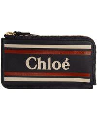 Chloé - Black Vick Zipped Card Holder - Lyst