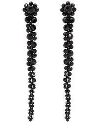 Simone Rocha - Black Short Drip Earrings - Lyst