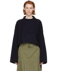 JW Anderson - Navy Cable Detail Sweater - Lyst