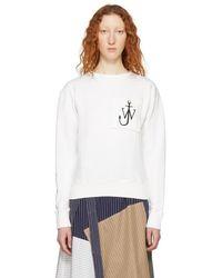 JW Anderson - Off-white Logo Sweatshirt - Lyst