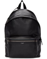 Saint Laurent - Black Matte City Backpack - Lyst