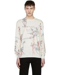 Alexander McQueen   White Explorer Thread Sweater   Lyst