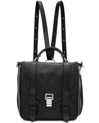Proenza Schouler - Black Ps1and Zip Backpack - Lyst