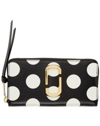 Marc Jacobs - Black Polka Dot Snapshot Standard Continental Wallet - Lyst
