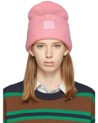 Acne Studios - Pink Oversized Beanie - Lyst