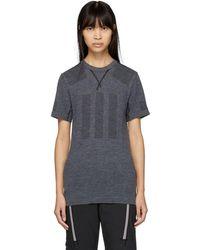 adidas Originals - Grey Primeknit Base Layer T-shirt - Lyst