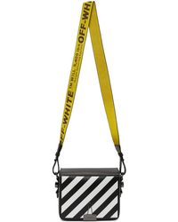 Off-White c/o Virgil Abloh - Black Diagonal Flap Bag - Lyst
