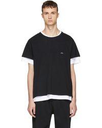 Second/Layer - Black Spiral Pocket T-shirt - Lyst