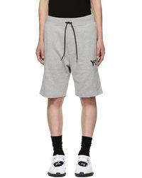 Y-3 - Grey Classic Shorts - Lyst
